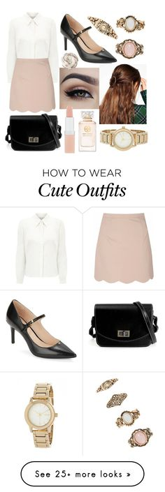 """""""Cute Outfit #302"""" by misspolyvoric on Polyvore featuring Calvin Klein, Eastex, Glamorous, Forever 21, ASOS, Rimmel, Tory Burch and DKNY"""