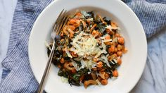 This meal gives kale, mushrooms & chickpeas a Spanish flair. You may be fooled by its rich flavor, but this dish features many nutritional superstars.