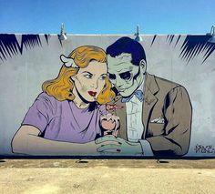 New York: nuovo pezzo dello street artist inglese D*Face.