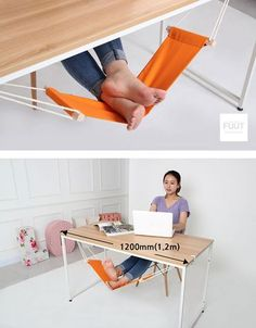 WOW! The Under Desk Foot Hammock - this will make you the unoffical 'Boss' of your office! #spon #Gadgets
