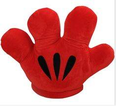 "1 Pcs 19""50CM Retail MICKEY & Minnie MOUSE  Double Faced Big Gloves Soft Plush Cushion Pillow Plush kawaii Toy Xmas Gift"