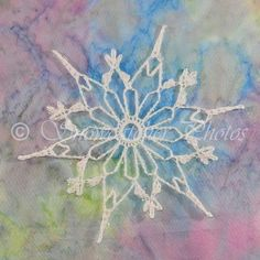 6 points and 6 flower picots free snowflake pattern from Snowcatcher.