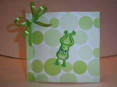 brown paper bag card replace circles with hexagons, change frog to match theme