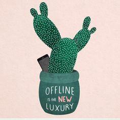 Einfach auch mal offline sein, schafft neue Energie und Kreativität. #ausdruck #illustration #büro #inspiration #idee  >>Illustration by Isabelle Schippers