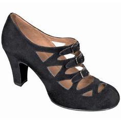 Amazon.com: Aris Allen Women's 1940s Vintage Black Faux Suede 3 Buckle Dance Shoes with Suede Leather Soles: Shoes