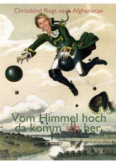 Christkind fliegt nach Afghanistan. #political poster
