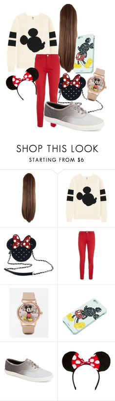 """""""minnie & mickey"""" by queen-hstyles ❤ liked on Polyvore featuring Uniqlo, Loungefly, Love Moschino, Disney and Keds"""