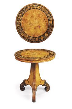 AN EARLY VICTORIAN BURR-ASH, BURR-YEW AND MARQUETRY CENTRE TABLE -  ATTRIBUTED TO GEORGE BLAKE & CO, MID-19TH CENTURY