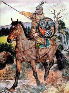 Arthurian warrior - post Briton-Roman warrior during Anglo-Saxon conquest of Britain Roman Britain, Celtic Warriors, Celtic Culture, Early Middle Ages, Norse Vikings, Iron Age, Anglo Saxon, Military Art, Military History