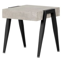 South Shore City Life Concrete End Table - 11416