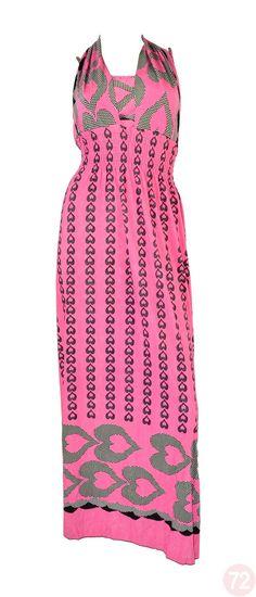 Belle Donne Women's Inverted Heart Maxi Dress