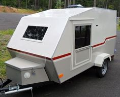 Teardrops n Tiny Travel Trailers Small Camper Trailers, Small Camping Trailer, Teardrop Camper Trailer, Atv Trailers, Trailer Diy, Trailer Build, Camper Caravan, Travel Trailers, Build A Camper
