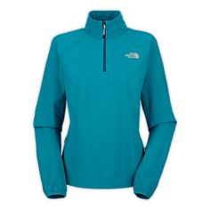 Don't let cold winter keep you indoors. See the WOMEN'S NIMBLE ZIP SHIRT. This wind-resistant pullover features a quarter-length zip front perfect for throwing on before a bike ride or run.