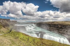 https://flic.kr/p/dCAjNv | Iceland | The Gullfoss waterfall is one of the most crowded sightseeing places in Iceland. Its one of the greatest waterfalls there. The most eye-catching thing about it is (beside the sheer size) that there are 2 steps that are perpendicular to each other. Yeah you think ... so why are there no people. Ok you got me, I wanted to have a clean landscapeshot so they are stamped out.