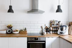 IKEA Küche mit Metrofliesen