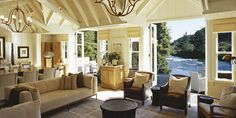 Owner's Cottage Lounge Hero - Huka Lodge | Taupo Luxury Retreat | New Zealand