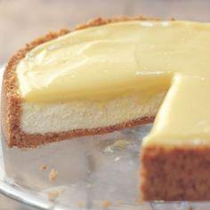 Goat cheese lemon cheesecake