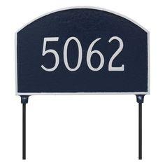 Montague Metal Prestige Arch Double Sided Address Sign Lawn Plaque - TSL-0003S1-L-CG