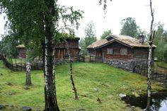 Lillehammer (N) - Maihaugen MUSEUM hier is te zien hoe de mensen in de vallei Gudbrandsdalen leefden vanaf de middeleeuwen tot nu.  hans