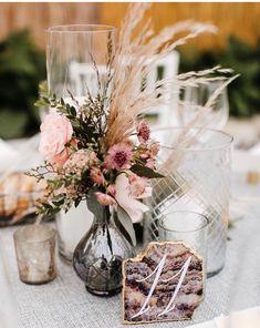 Boho Wedding, Floral Wedding, Wedding Flowers, Bottle Centerpieces, Floral Centerpieces, Wedding Arrangements, Bud Vases, Table Numbers, Colored Glass