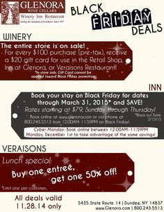 Glenora Wine Cellars Black Friday Deals #glenorawine #blackfriday #flxwine