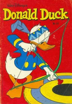 Cover for Donald Duck (Oberon, 1972 series) Donald Duck Characters, Disney Cartoon Characters, Cartoon Books, Disney Cartoons, Classic Comics, Classic Cartoons, Comic Book Covers, Comic Books, Walt Disney