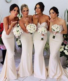 Pale Yellow Bridesmaid Dresses 2015 Hot Sale Sexy Bridesmaid Dresses Sweetheart Neckline Beaded Sequins Satin Sheath Formal Gowns Floor Length Sleeveless Custom Made Lazaro Bridesmaid Dresses From Nicedressonline, $137.96| Dhgate.Com