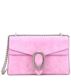 bcdabf760235f9 Gucci - Dionysus Small suede and leather shoulder bag - Crafted from oh-so  soft candy-pink suede, the Dionysus shoulder bag from Gucci will become a  staple ...