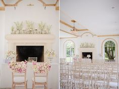 Wedding ceremony set up at Vine Room Northbrook Park  flowers by fairynuff Photography by Marianne Taylor