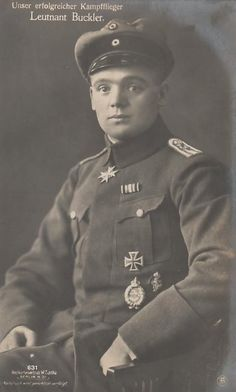 Leutnant Julius Buckler; FAA 209, Jasta 17. 36 victories; Winner of the PLM 4 Dec. 1917; Died Bonn on 23 May 1960