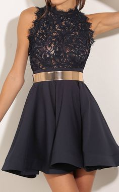 Shop Sleeveless Lace Flare Black Dress at ROMWE, discover more fashion styles online. Satin Dresses, Sexy Dresses, Prom Dresses, Formal Dresses, Dress P, Party Dress, Pretty Dresses, Beautiful Dresses, Banquet Dresses
