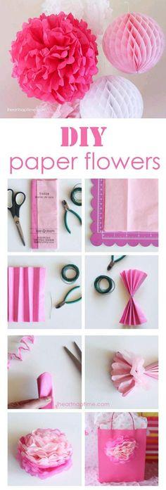 DIY Make Tissue Paper Flowers DIY Projects / UsefulDIY.com
