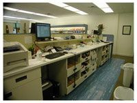 View behind pharmacy - Examples of Pharmacy Design & Layout, Inpatient Pharmacy Fixtures, Cabinetry & Shelving for Pharmacies, Pharmacy Dispensing Workflow Engineering, Retail Cabinetry, Custom Pharmacy Architects & Blueprints, Long Term Care / LTC, Community / Retail, Hospital / Inpatient... Visit RXinsider's Virtual Pharmacy Tradeshow: http://rxshowcase.com/trade_show.php/catid-87/catname-Pharmacy_Design,_Fixtures,_Layout,_Engineering