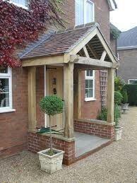 New Front Door Porch Canopy Patio Ideas Porch Uk, Front Door Porch, House With Porch, House Front, Front Doors, Front Stoop, Porch Entry, Front Porches, Porch Canopy