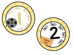 Movie Theme Classroom Numbers 1-10 from Chansi.Akridge from Chansi.Akridge on TeachersNotebook.com (5 pages)  - Great for centers, tables, games, etc !  1-10
