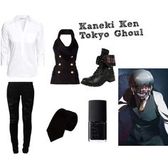 Kaneki Ken (Tokyo Ghoul) by lexivita on Polyvore featuring Balmain, Alexander Olch, H&M, Vero Moda and NARS Cosmetics