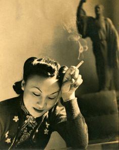 Amy Wang… Shanghai society girl and fashion designer, late 1930's. °