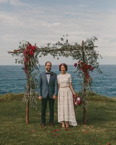 "112 Likes, 5 Comments - Nouba (@nouba_blog) on Instagram: ""Andrea envisioned a clifftop wedding and garden party celebration long before Matt even popped the…"""