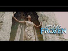 "Frozen Princesses - LET IT GO ""Frozen Cover"" | Glam Glamour Frozen Let It Go, Frozen Princess, Princesses, Letting Go, One Shoulder Wedding Dress, Glamour, Let It Be, Wedding Dresses, Videos"