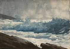 Winslow Homer | Prout's Neck  Breakers | Homer moved from New York to Prout's Neck, Maine, a peninsula ten miles south of Portland. Except for vacation trips to the Adirondacks, Canada, Florida, and the Caribbean, where he produced dazzling watercolors, Homer lived at Prout's Neck until his death.