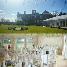 This #Furniture #Friday we delivered our lovely Limewash Chivari's to the equally lovely Quendon Hall! #events #wedding #TGIF #hire