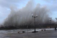 Marsalforn auf Gozo bei Sturm