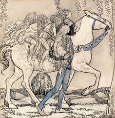Le Prince Lointain: John Bauer (1882-1918), Hästen Ledde Han Vid Betslet och Pa det Viset Färdades de Genom Skogen.