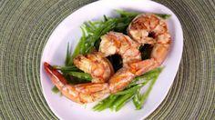Michael Symon's Shrimp with Grilled Lemon and Mint