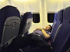 How to sleep well on a long flight...