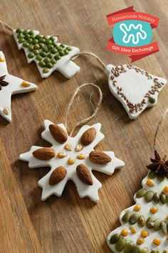 Learn how to make classic salt dough ornaments with an organic twist, using basic pantry staples like seeds, nuts and lentils.