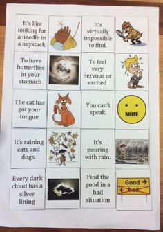 Free resources, including a PowerPoint presentation, worksheets and idiom cards for teaching idioms to Second Language speakers. Figurative Language, Second Language, Idioms, Teacher Resources, Speakers, Worksheets, Presentation, Student, English
