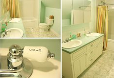 For several years now, we have been done with the Junk House project. The house has been livable in every single way, with that last l. Aqua Bathroom, Home Projects, Blog, House, Furniture, Home Decor, Decoration Home, Home, Room Decor
