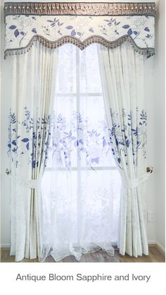 Antique Sapphire and Ivory fabric done in a 19th Century Southern design, Auckland New Zealand.