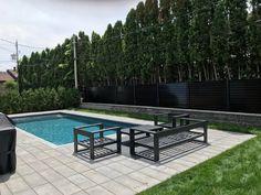 Clôture en panneaux d'acier horizontale avec poteaux 2-1/2'' x 2-1/2'' Patio, Outdoor Decor, Home Decor, Sign, Homemade Home Decor, Yard, Porch, Terrace, Interior Design